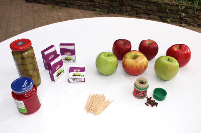 preschool STEM activity_apple_turkey_materials